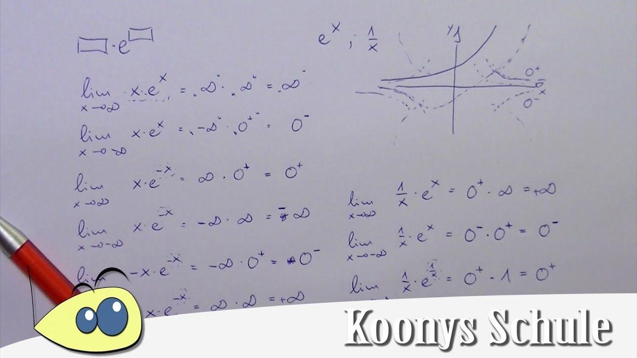 Grenzwertverhalten Von E Funktionen Ubersicht Mathe Ubersicht Ubungsblatt