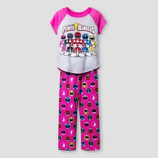 8071b5fe36 Girls Power Rangers Pajama Set - Pink   Target