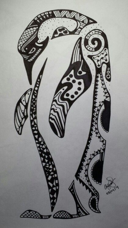 My zentangle penguin!