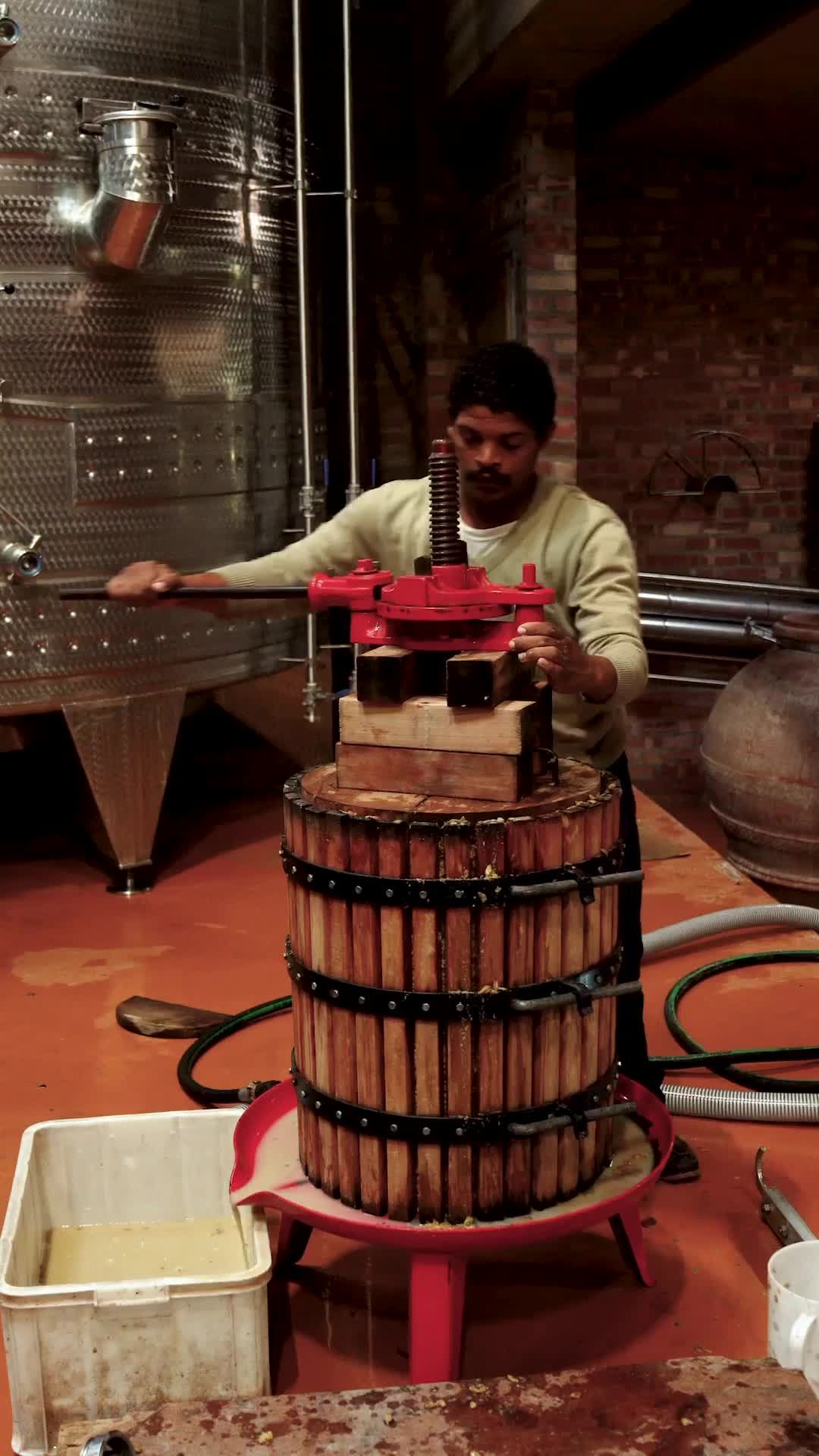 Traditional Wine Press Video In 2020 Wine Press Traditional Wine South African Wine