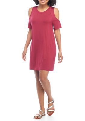Love, Fire Girls' Cold Shoulder Dress - Sustain Red - Xs