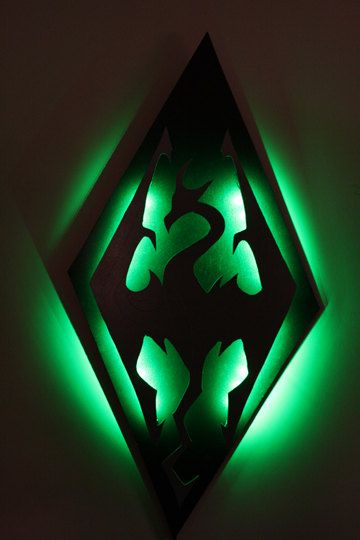Skyrim Imperial Symbol Dragon Lighted Wall Decoration Want It