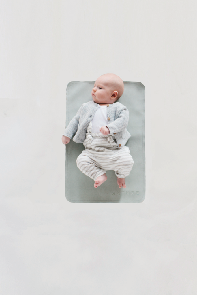 Gathre baby changing mat in Ivy. Bonded Leather + oh so easy to ...