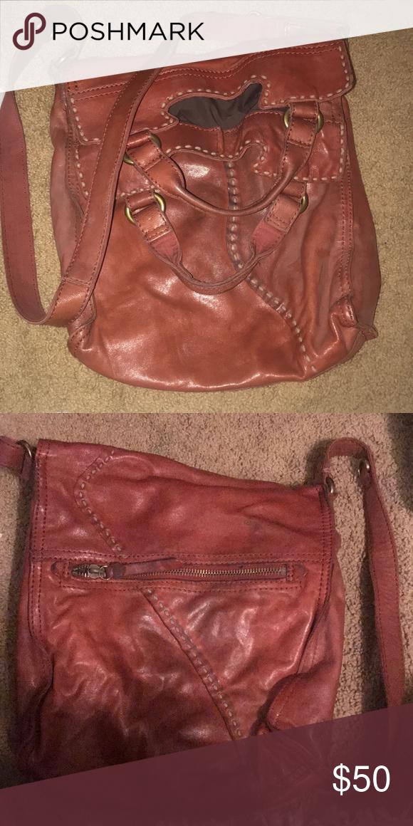 Lucky brand satchel Brown leather lucky brand satchel. Some dark ...