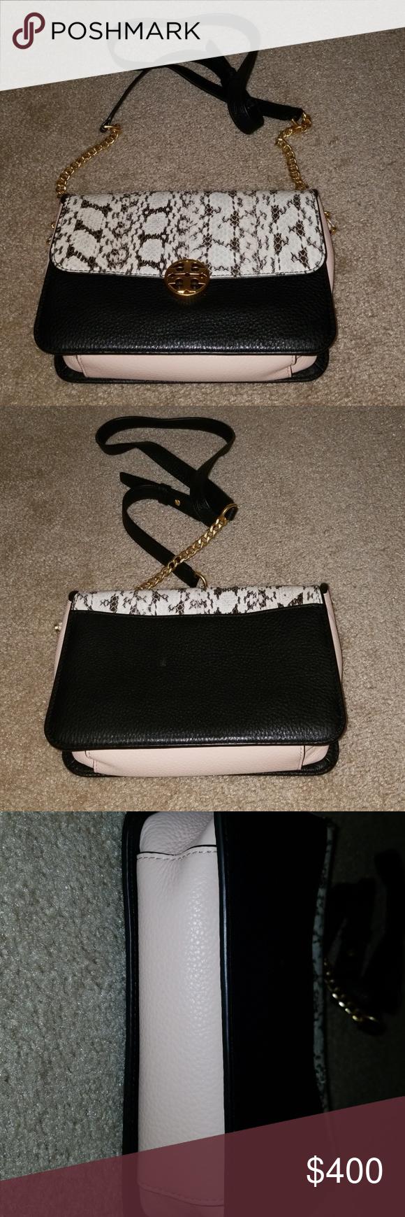 2b5a1ed3de Tory Burch NWT Chelsea snake bag Colorblock crossbody in snakeskin Tory  Burch Bags Crossbody Bags