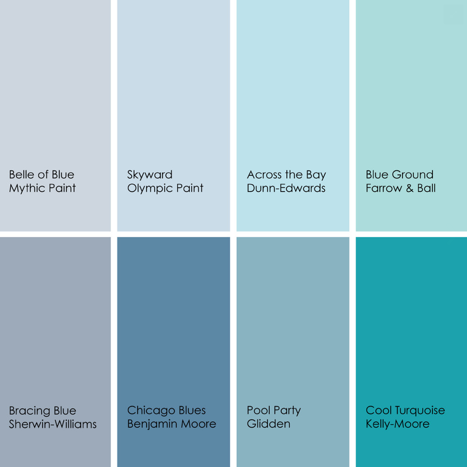 Bathed in color when to use blue in the bathroom spa for Light blue paint colors