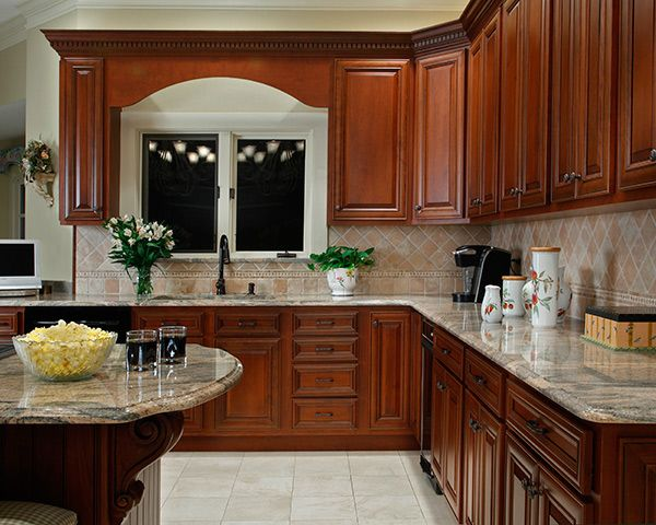 Kitchen Paint Colors With Cherry, What Color Countertops Go Best With Cherry Cabinets