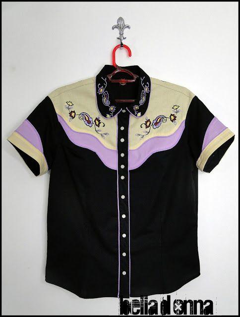 Lojabelladonna: Camisa Western Feminina Delilah