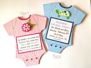 Get Handmade Invitations Baby Shower Gender Reveal Gender Reveal Party Gender Reveal Invitations