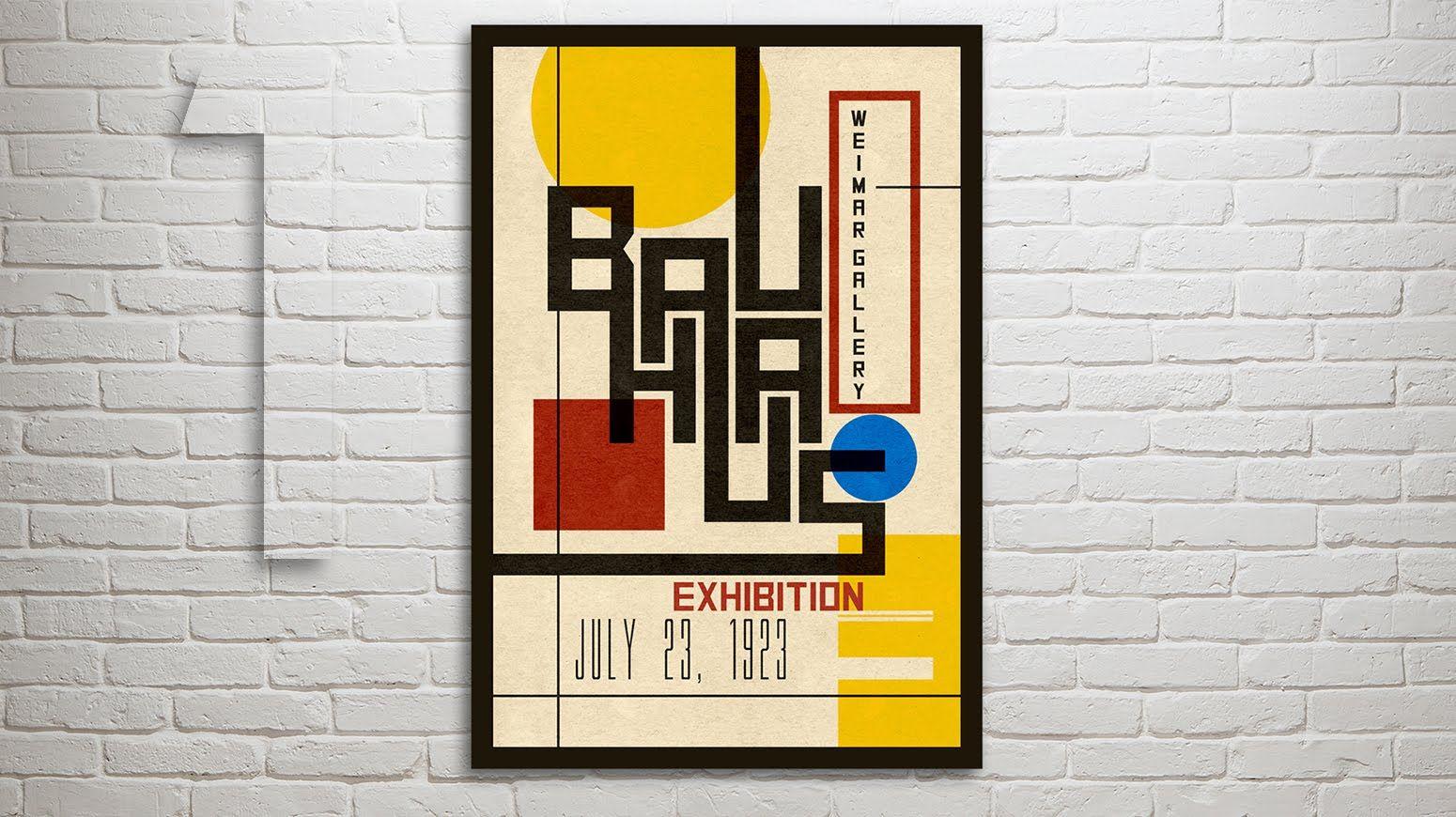 Poster design using photoshop cs5 - Photoshop Part 1 How To Design Create A Vintage Bauhaus Poster