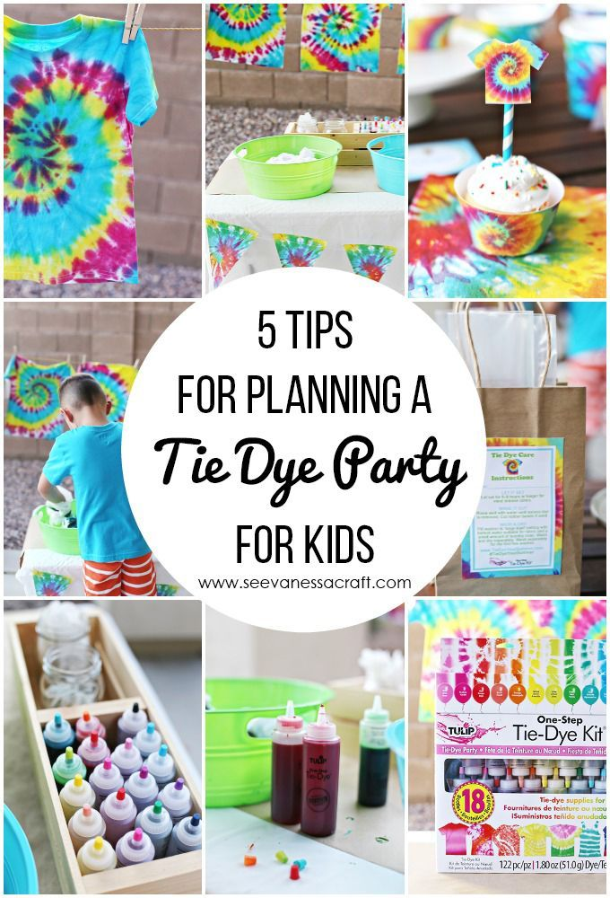 Party 5 Tie Dye Party Tips For Kids See Vanessa Craft Tie Dye Birthday Party Tie Dye Party Tie Dye Birthday