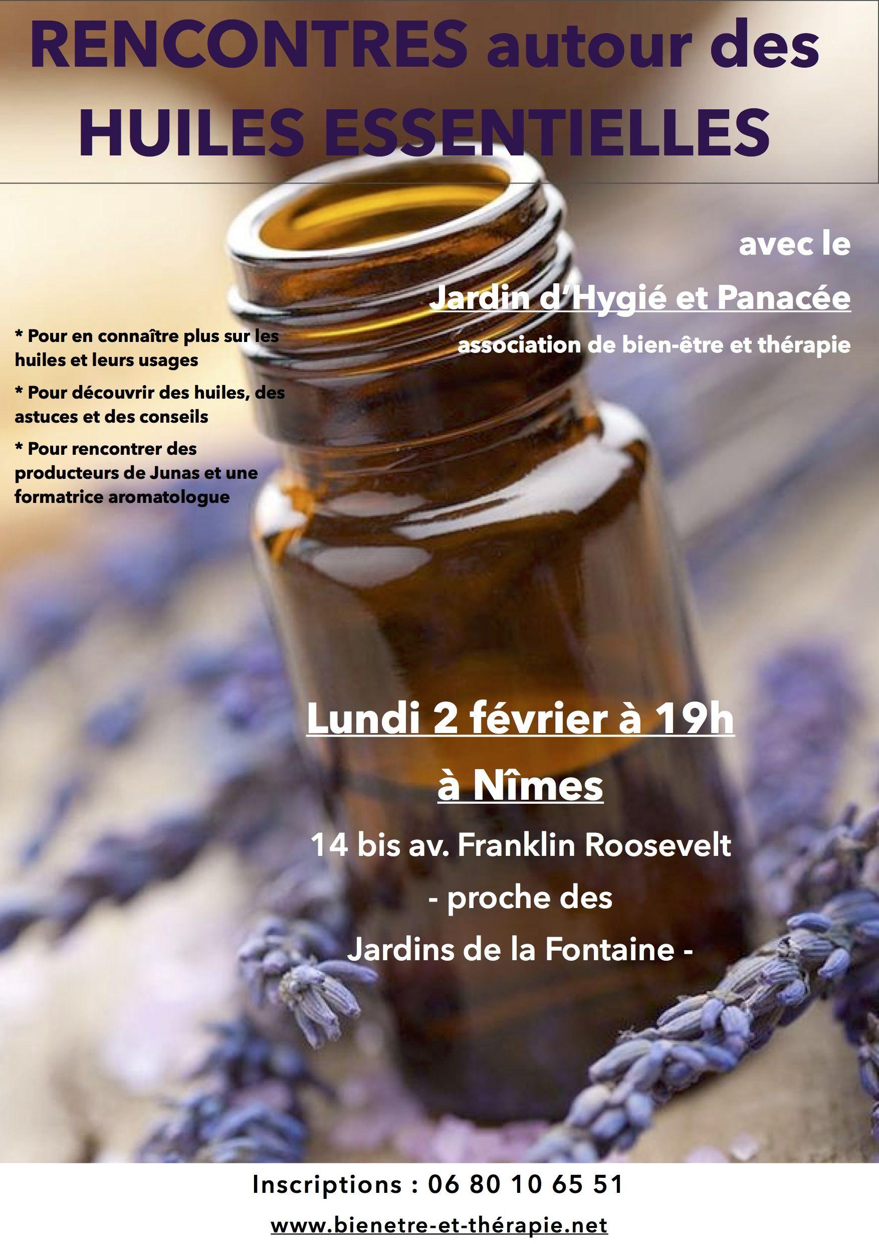 Rencontres autour des huiles essentielles à Nîmes le 02/02/15