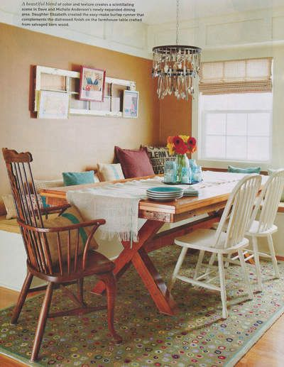 Our Cat's Paw Sage Wool Hooked Rug was featured in fun, kitschy dining area in Vintage Style! What do you think?