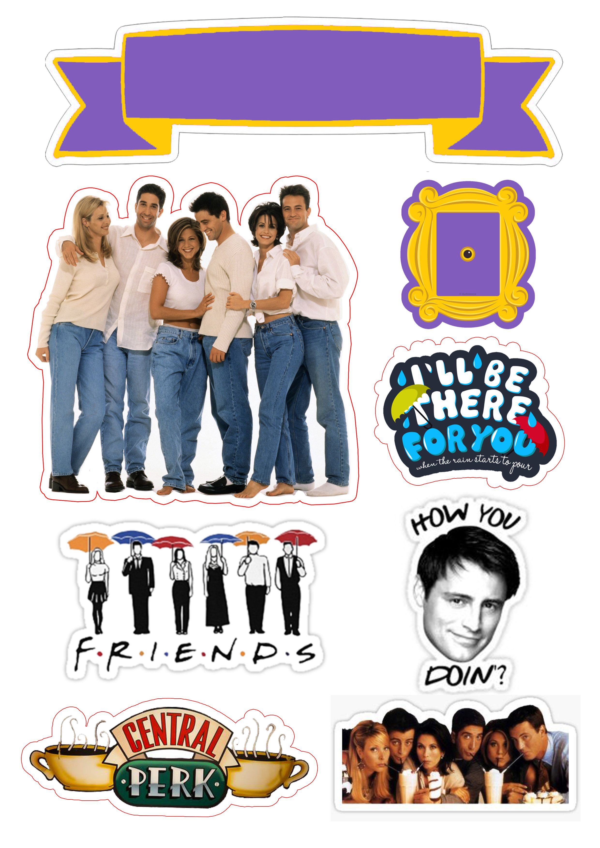 Friends Topo De Bolo Friends Festas De Aniversario De 30 Anos