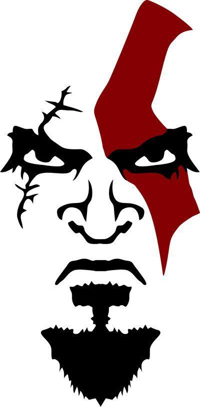 Kratos Face Art Print | varios in 2019 | Art, Face Art ...