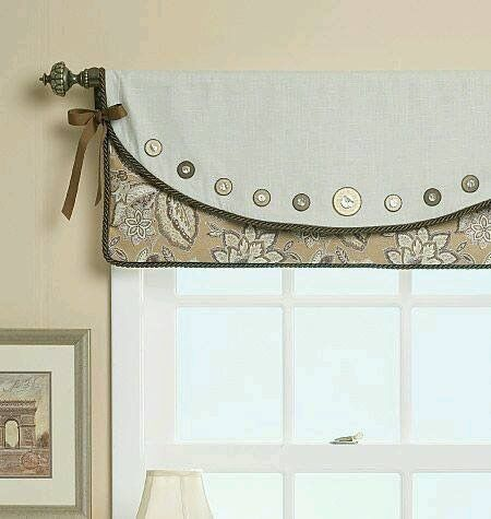 for sewing room button curtains