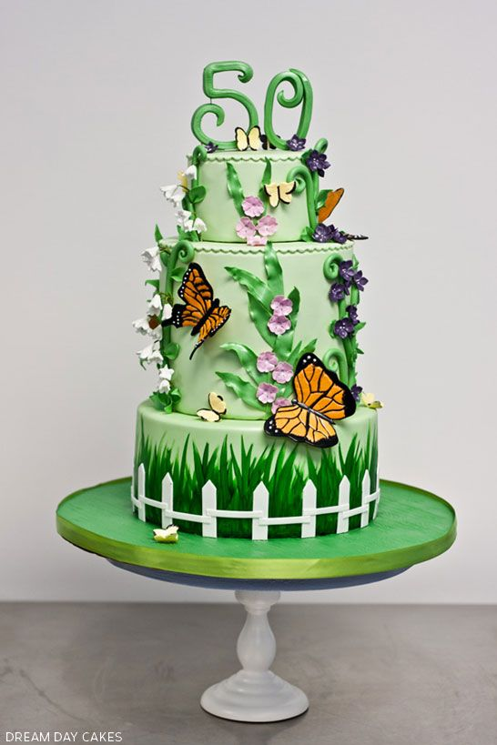 Butterfly Garden Cake | Butterfly, Cake and Gardens