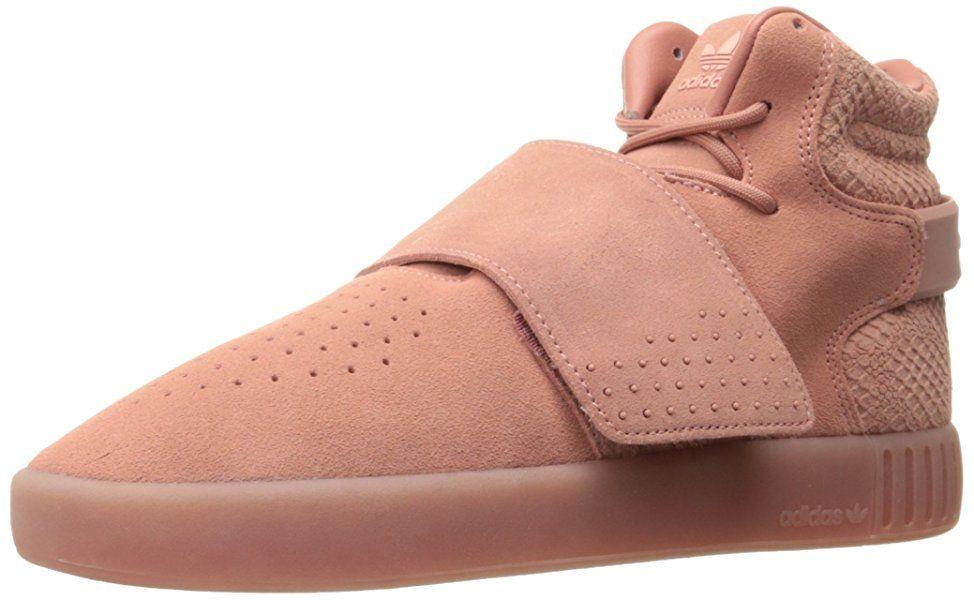 on sale ab73f 50761 adidas Originals Women s Tubular Invader Strap w Fashion Sneaker, Raw Pink  Raw Pink Still Breeze F, 7 M US