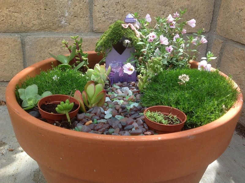 Mini potted fairytale garden my secret fairy tale garden ornaments these tips for making a diy fairy garden are useful in creating your magical fairy garden workwithnaturefo