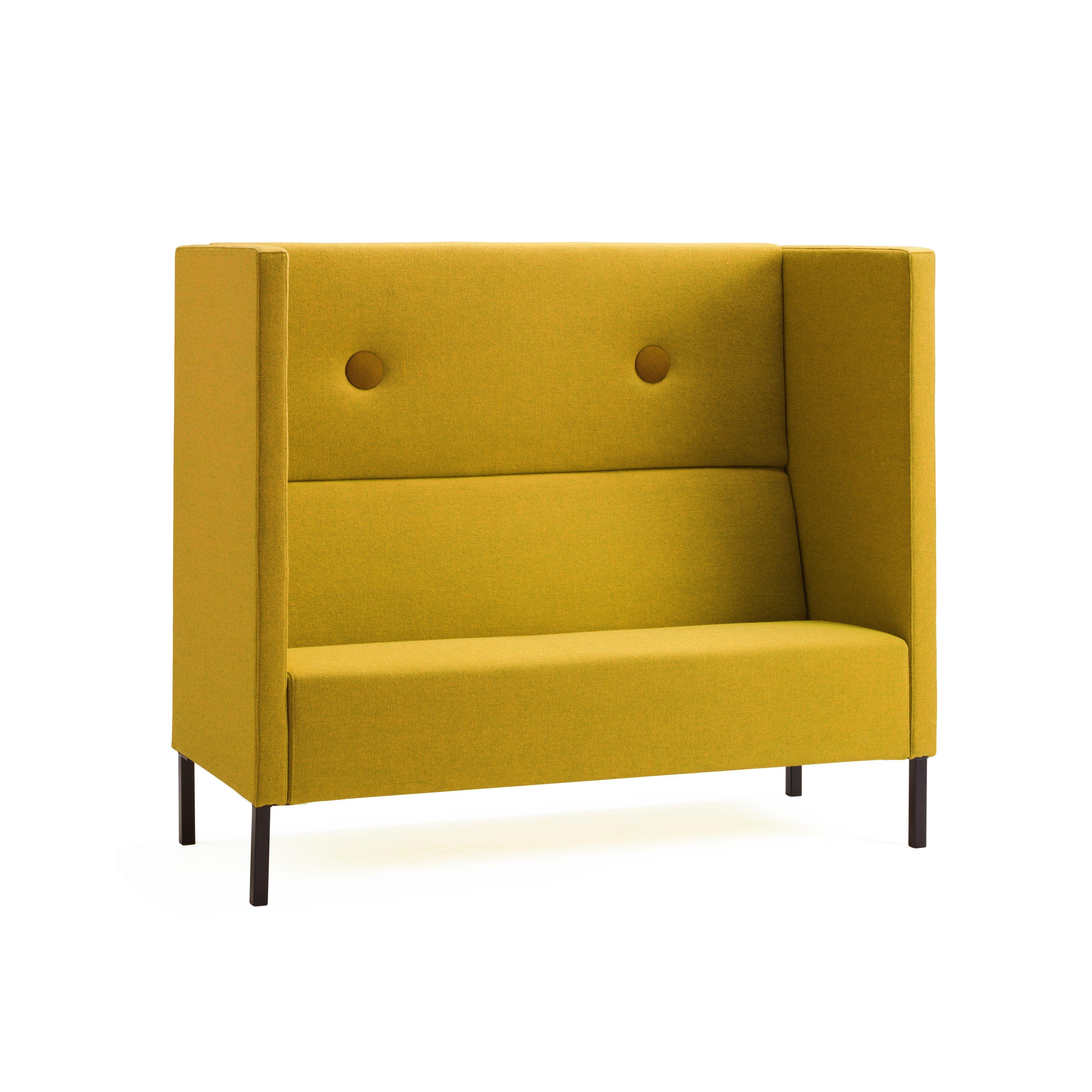 mute high back privacy sofa by joel karlsson for mitab