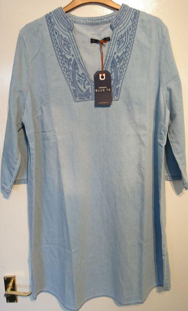 567c44c64ed  DenimDress Monsoon Blue 73 Shola Denim Tunic Blue Uk 16 Bnwt Embroidered  Yoke - Denim Dress  45.65 End Date  Thursday Nov-1-2018 14 18 23 PDT Buy It  Now ...