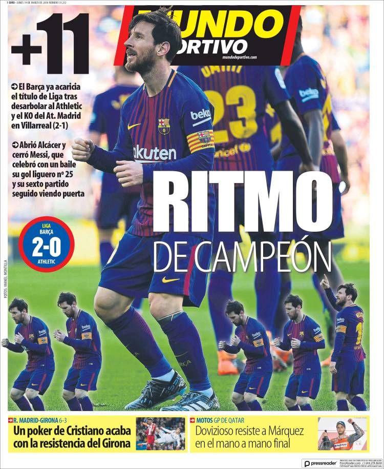 20180319 Portada de El Mundo Deportivo (España)