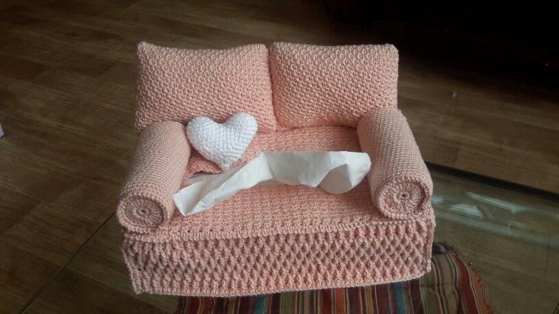 Love Seat Tissue Cosy Gratis Patroon Van Yvonne Blanker Breien