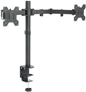 "Amazon.com: VIVO Dual LCD Monitor Desk Mount Stand Heavy Duty Fully Adjustable fits 2 /Two Screens up to 27"" (STAND-V002): Computers & Accessories"