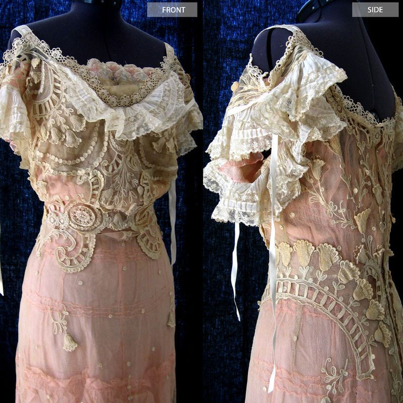 Bodice Detail, Early 1900s Dress