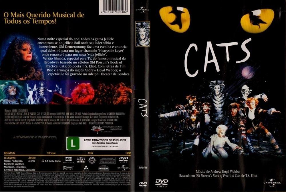 Cats (DVDVídeo) de Andrew Lloyd Webber Filme dvd, Som