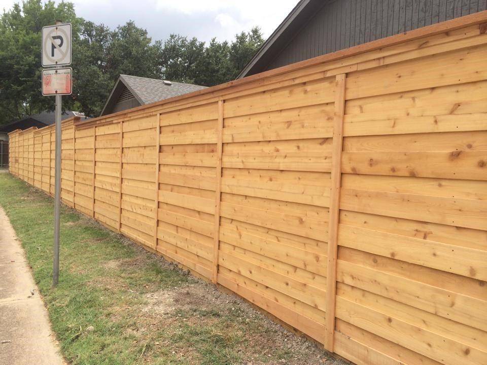 Horizontal Cedar Board On Board Horizontal fence