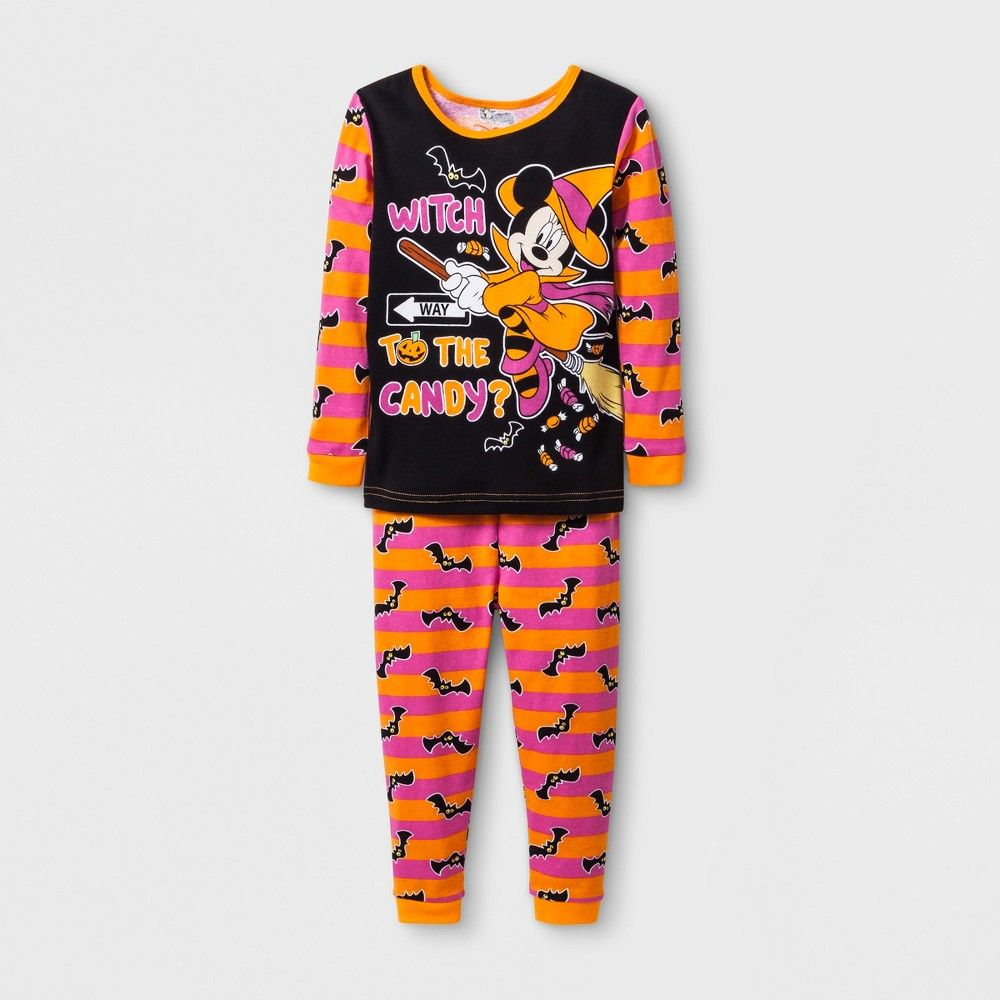 7b5a219503a4 Baby Girls  Minnie Mouse 2pc Pajama Set - Orange 12 M