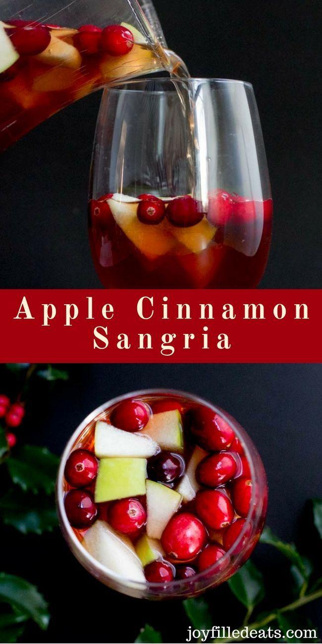 Apple Cinnamon Sangria Low Carb Sugar Free Thm Friendly This Apple Cinnamon Sangria Is The Perfect Sugar Free Cocktails Low Carb Drinks Low Carb Cocktails