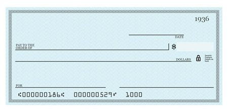 Blank Check Template Psd