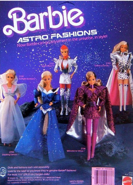 Barbie and her Astro Fashions, 1986.