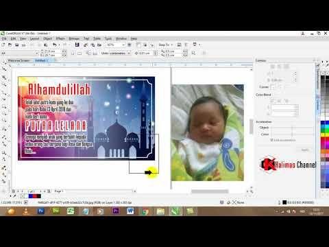 Cara Mudah Membuat Desain Kartu Nama Bayi Dengan Coreldraw Design