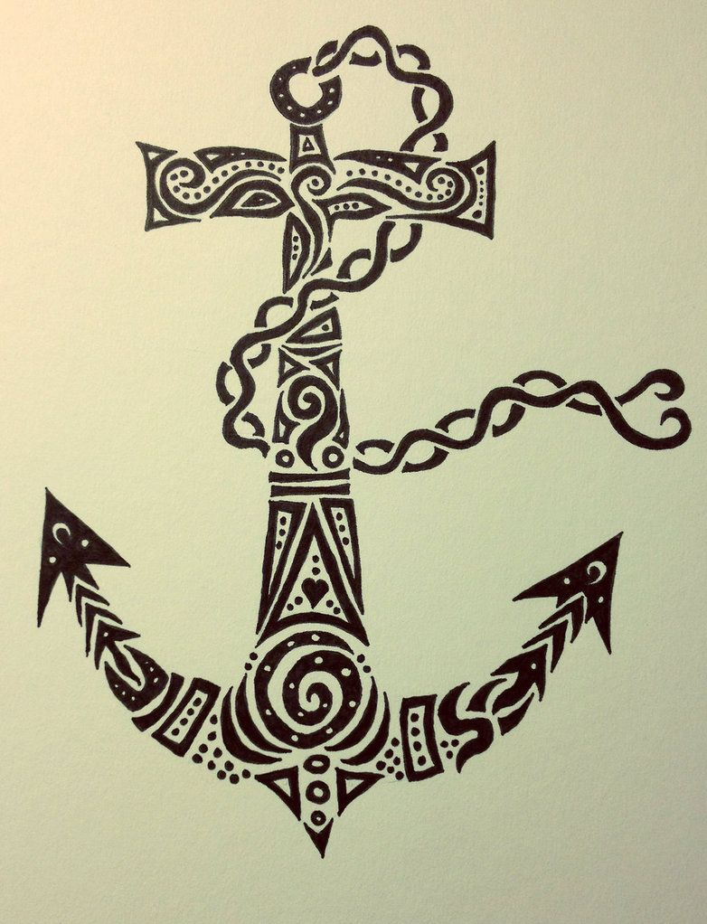 tribal anchor tattoos pinterest tattoo anchor. Black Bedroom Furniture Sets. Home Design Ideas
