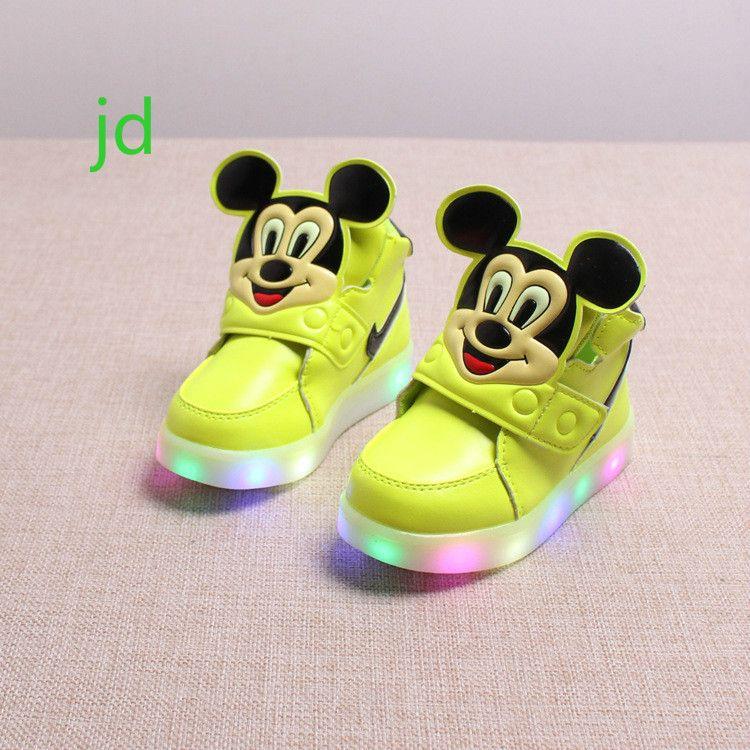 2018 Primavera Novas Criancas Sapatos De Esportes De Lazer Meninas Led Luminescente Luminosa Bebe Meninos Caco Nike Shoes Girls Boys Shoes Kids Cute Baby Shoes