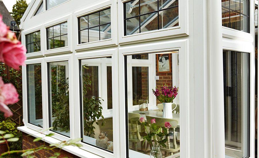 Superb White Timber Casement Windows In A Regency Conservatory Idea