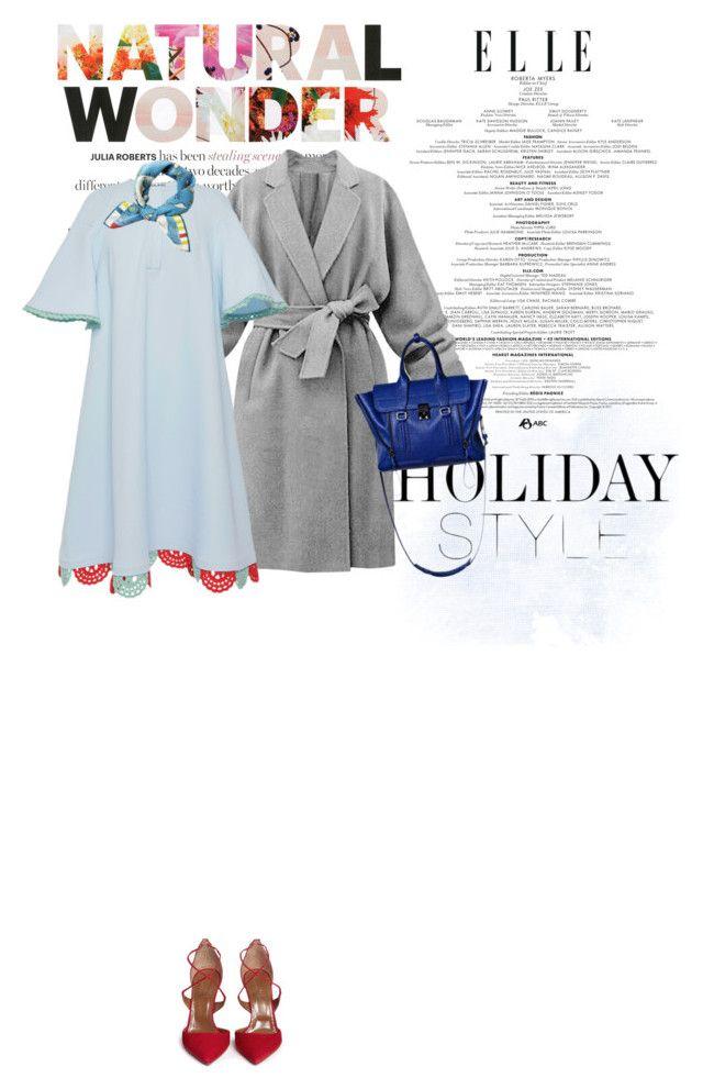 """DO YOU WANT TO FLY WITH ME?"" by onemorepose ❤ liked on Polyvore featuring Vika Gazinskaya, Aquazzura, rumisu, 3.1 Phillip Lim, holidaystyle and oversizeddress"
