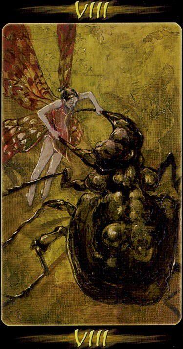 VIII. Strength - Tarot of the Secret Forest by Lucia Mattioli