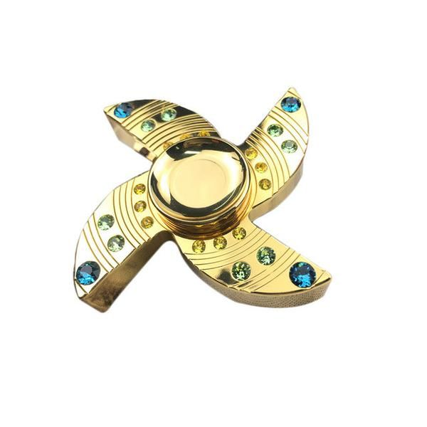Four leaf Diamond Gold Hand Spinner Adult Toy Supr Supply