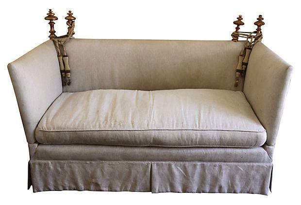 Incredible Knole Sofa W Giltwood Finials Vintage Knole Sofa Inzonedesignstudio Interior Chair Design Inzonedesignstudiocom