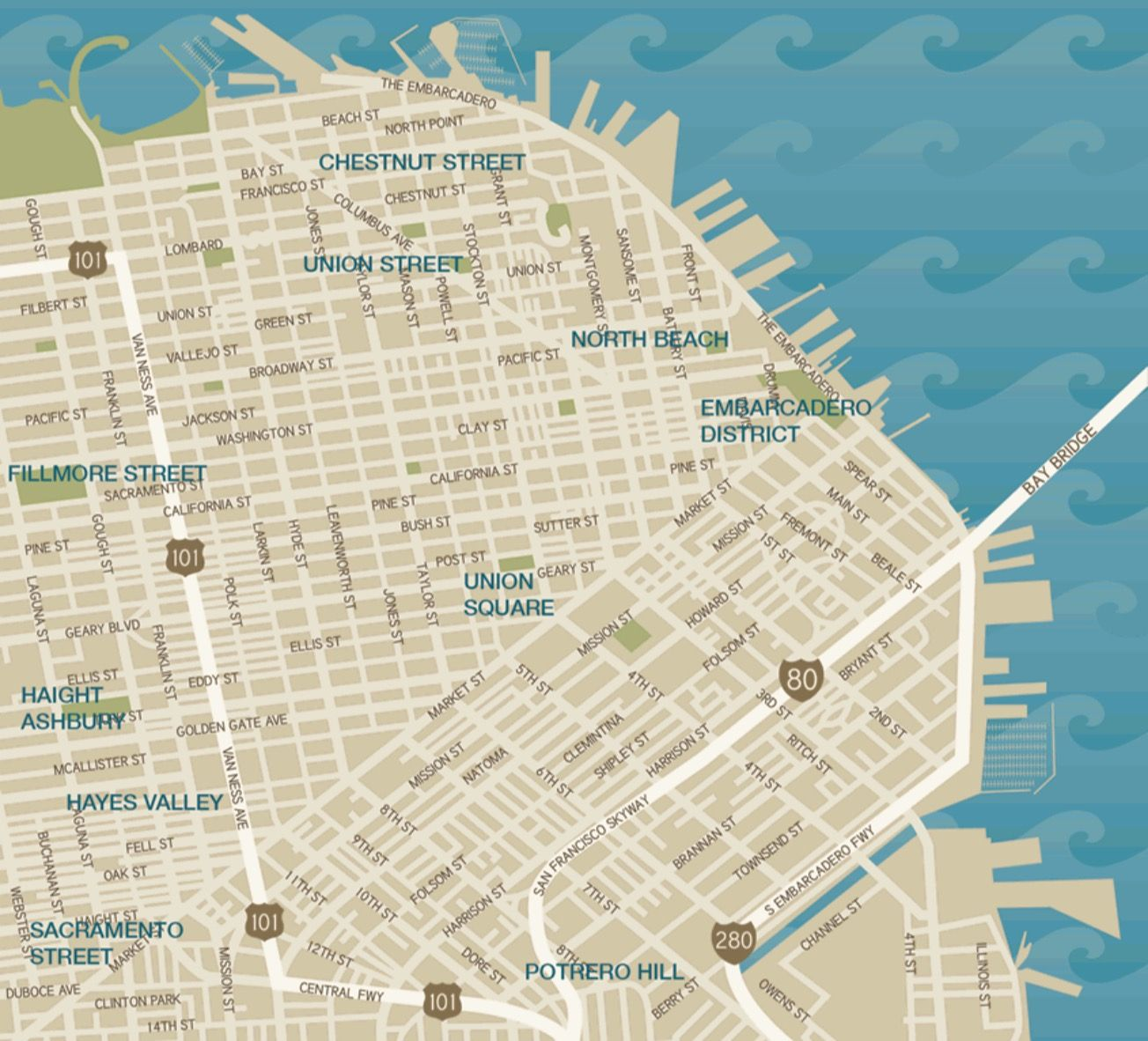 CAs Shop | Map of San Francisco\'s Shopping Districts ...