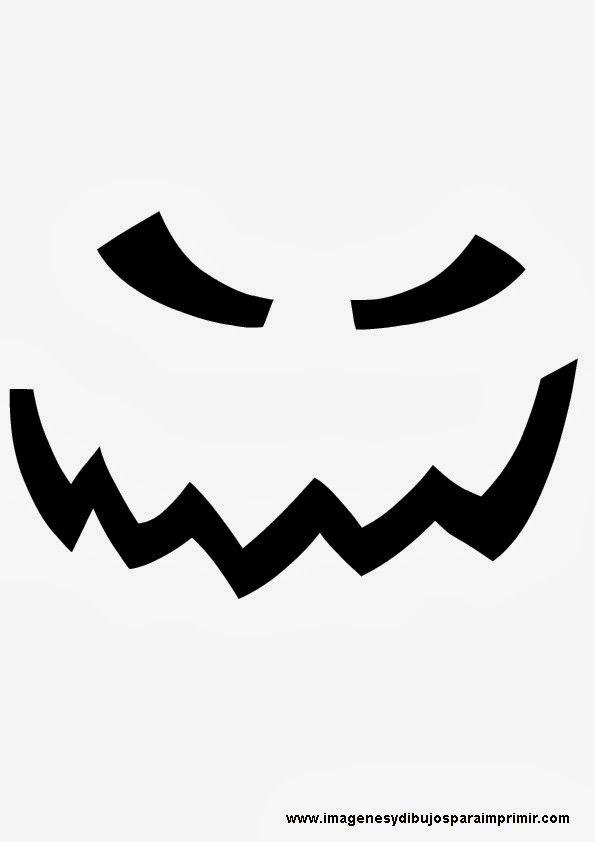 Cara de calabaza terrorifica | Artesanía de halloween | Pinterest ...