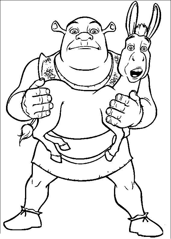 Shrek And Donkey   Shrek Coloring Pages   Pinterest   Shrek and Kids net