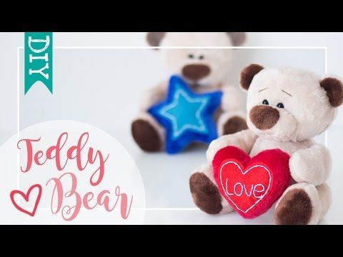 1) Soft toy Teddy Bear ☆ DIY - Craft - YouTube | medvídek ...