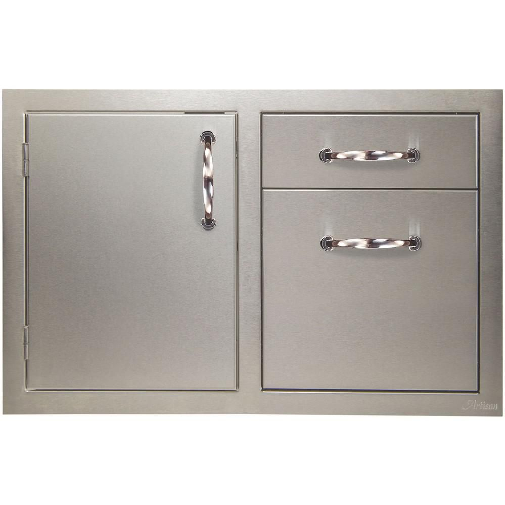 Artisan 32 Access Door And Double Drawer Combo Artp Ddc Outdoor Kitchen Cabinets Modular Outdoor Kitchens Storage