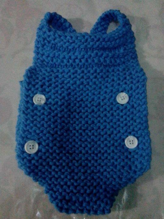 Peto con tirantes para bebé tejido en telar por Catherine W ...