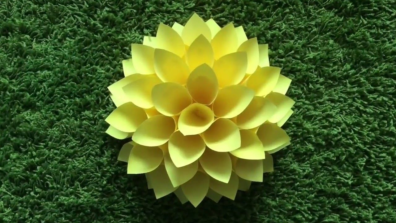How to Make Big paper flowers DIY. Giant flowers DIY. Wall decor ...